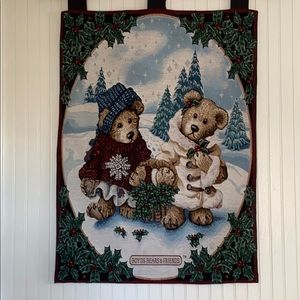 Boyds Bears & Friends Tapestry Wall Hanging